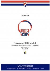 Invitasjon NorgesCup runde 2 2016